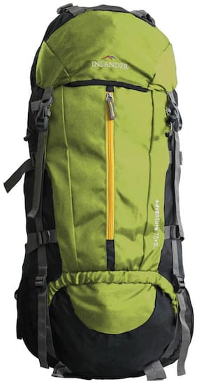 Inlander Green Polyester Backpack