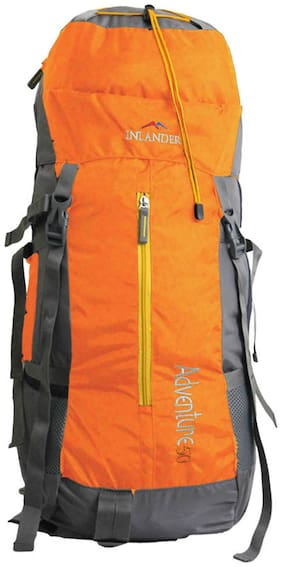 Inlander Orange Polyester Backpack