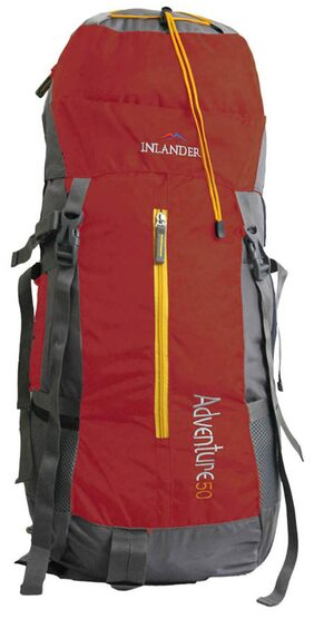 Inlander Red Polyester Rucksack Backpack