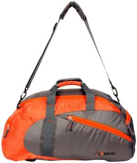 Istorm Polyester Men Gym bag - Orange & Grey