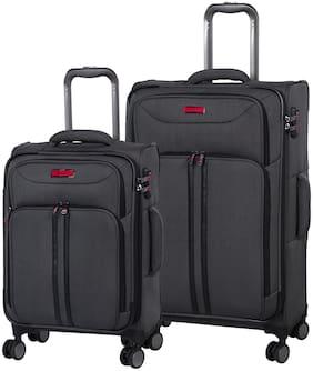 IT Luggage Cabin & Medium Size Luggage Set - Black , 8 Wheels