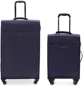 IT Luggage Accentuate Cabin & Medium Size Soft Luggage Bag ( Blue , 8 Wheels )