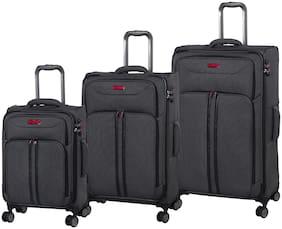 IT Luggage Cabin & Medium Size Luggage Set ( Black , 8 Wheels )
