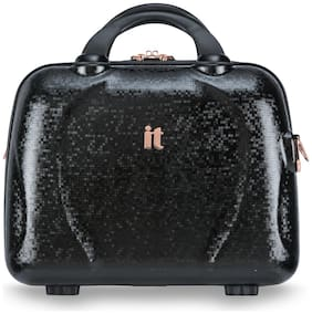 IT Luggage Women Polycarbonate Vanity Case - Black