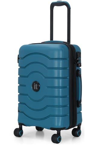IT Luggage Intervolve Cabin Size Hard Luggage Bag ( Blue , 8 Wheels )