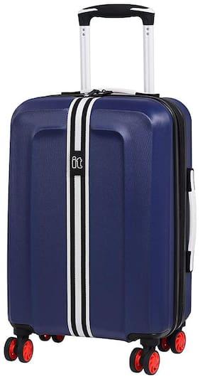 IT Luggage Cabin Size Hard Luggage Bag ( Blue , 8 Wheels )