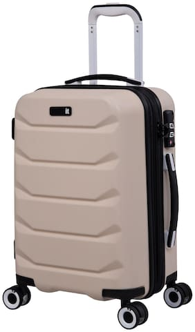 IT Luggage Connective-56 cm|Cornflour Cabin Size Hard Luggage Bag ( Beige , 8 Wheels )