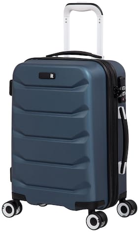 IT Luggage Connective-56 cm|Roman Blue Cabin Size Hard Luggage Bag ( Blue , 8 Wheels )