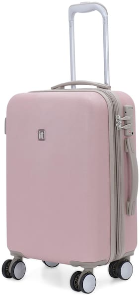IT Luggage Optative Cabin Size Hard Luggage Bag ( Pink , 8 Wheels )