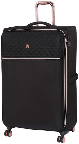 IT Luggage Cabin Size Soft Luggage Bag - Black , 4 Wheels