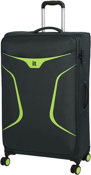 IT Luggage Cabin Size Soft Luggage Bag ( Black , 4 Wheels )
