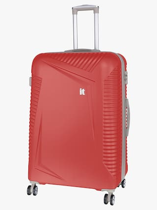 IT Luggage Cabin Size Hard Luggage Bag - Red , 4 Wheels