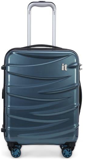 IT Luggage Tidal Cabin Size Hard Luggage Bag ( Blue , 8 Wheels )