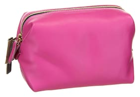 J Crew Women's Harper Dopp Kit in Italian Leather K4213 Pink