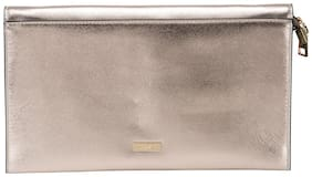 Kazo Women Solid Faux Leather - Clutch Pink