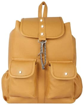 JARS Collections Tan Faux Leather Backpack