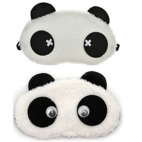 Jenna  Cross Eye Panda Sleeping Blindfold Eye Mask(Pack Of 2)