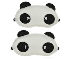 Jenna  Cross Cylinder Panda Sleeping Blindfold Eye Mask(Pack Of 2)