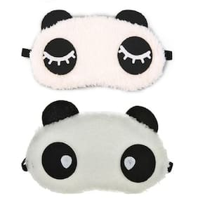 Jenna  Eyelashes water Panda Sleeping Blindfold Eye Mask(Pack Of 2)
