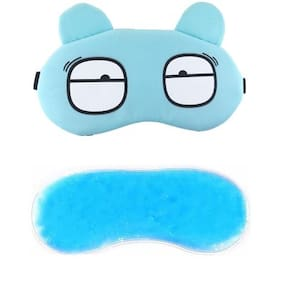Jenna  Eyes_Blue_Gel Eye Mask for Insomnia, Meditation, Puffy Eyes and Dark Circles Sleeping Blindfold