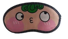 Jenna   GreenHair Cartoon Face Sleeping Eye Mask