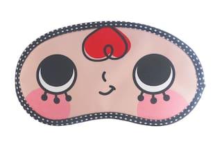 Jenna   RedHair Cartoon Face Sleeping Eye Mask