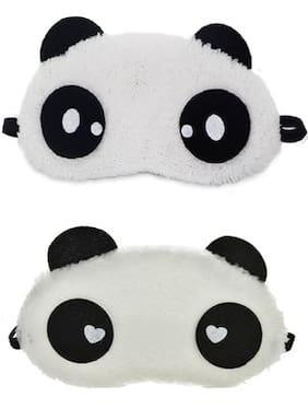 Jenna  SWH Dot Panda Sleeping Blindfold Eye Mask(Pack Of 2)