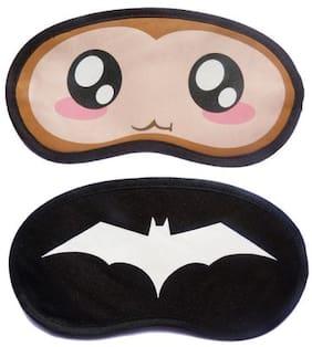 Jenna BigEye WhiteBat Cartoon Face Sleeping Eye Mask(Pack of 2)