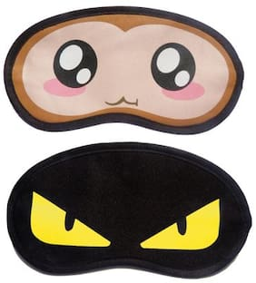 Jenna BigEye YellowEye Cartoon Face Sleeping Eye Mask(Pack of 2)