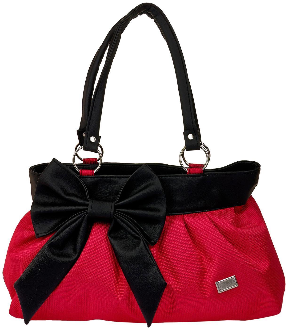 JGSHOPPE Red PU Shoulder Bag   Zurry by JG Shoppe