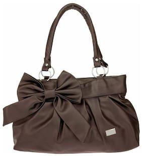 JGSHOPPE Brown PU Shoulder Bag - HB103