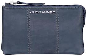 Justanned Women Leather Wallet - Blue
