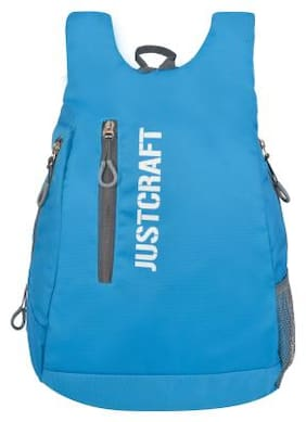 Justcraft Blue Polyester Backpack