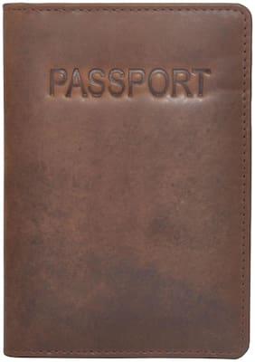JusTrack Leather Passport Holder