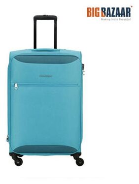 Kamiliant by American Tourister Zaka Spinner Soft Trolley 56 cm (Aqua Blue)