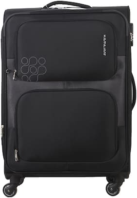 Kamiliant by American Tourister Monza Cabin Size Soft Luggage Bag ( Black , 4 Wheels )