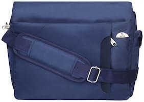 Kara Unisex Navy Blue Nylon Messenger Bag