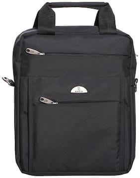 Kara Unisex Black Nylon Messenger Bag
