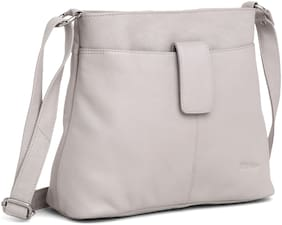 Kattee Angelica by WildHorn  Upper Grain Genuine Leather Ladies Sling Bag | Cross-body Bag | Shoulder Bag | Hand Bag with Adjustable Strap for Girls & Women.