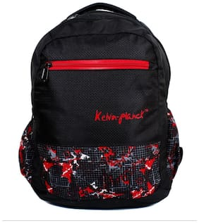 Kelvin Planck Black Waterproof Polyester Backpack