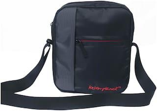 Kelvin Planck Black Polyester Sling bag