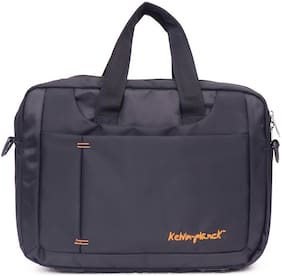 Kelvin Planck Convertible Black Formal Office Side Bag For Men-Laptop 15.6 Inches Messenger Bag