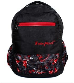 Kelvin Planck Black Polyester Laptop backpack