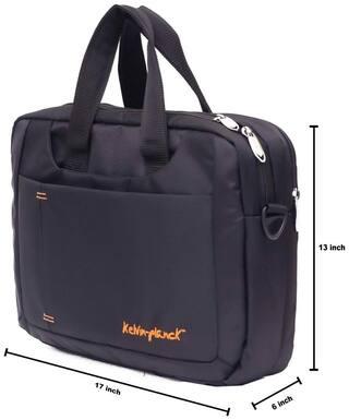 Kelvin Planck Black Office Convertible Premium Laptop Bag  Trendsetter
