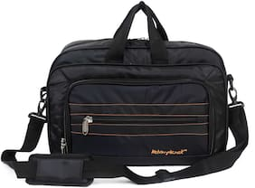 Kelvin Planck Black Polyester Laptop messenger bag & Sling bag