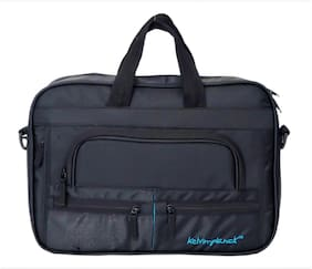 Kelvin Planck 39.62 cm (15.6 inch) Black Formal Office Bag