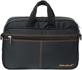 Kelvin Planck 15 kg Black Polyester Laptop briefcase & Laptop messenger bag
