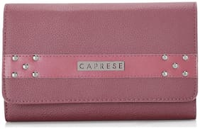 CAPRESE Women Faux Leather Vanity Case - Maroon