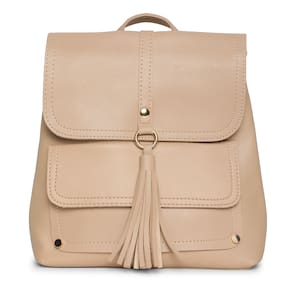 Kielz-Beige-Synthetic-Women-Backpack