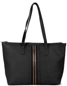 Kielz Women Solid Synthetic - Tote Bag Black